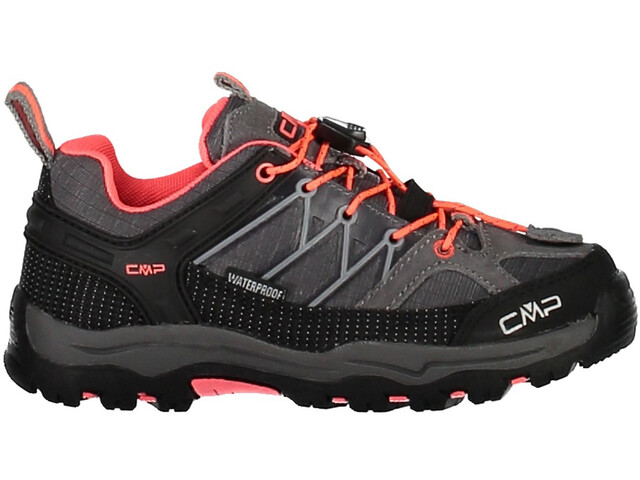 CMP Campagnolo Rigel Low WP Trekking Shoes Juniors Grey-Red Fluo